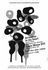 Jerusalem In My Heart + Louis Minus XVI